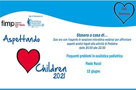 Course Image Aspettando Children 2021 - Frequenti Problemi in oculistica pediatrica